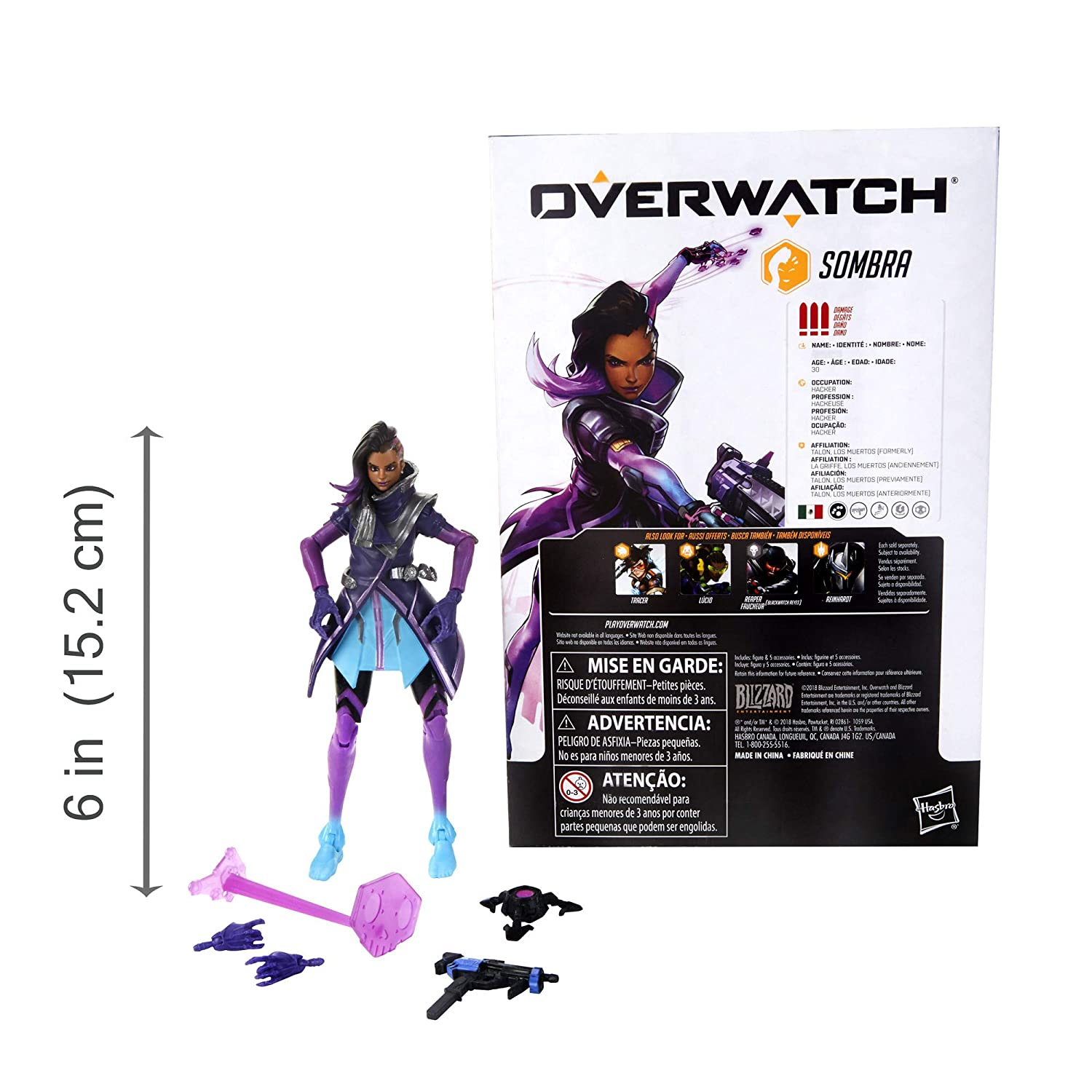 Amazon.com: Hasbro Overwatch Ultimates Series Sombra 6