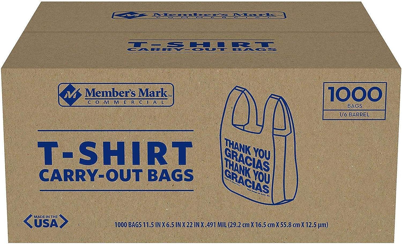 Ironclad T-Shirt Carryout Bags- Thank You/Gracias - 1000 ct.