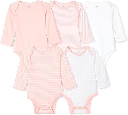 Moon and Back Baby Set of 5 Organic Long-Sleeve Bodysuits