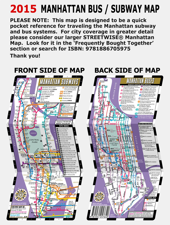 Streetwise manhattan bus subway map laminated metro map of streetwise manhattan bus subway map laminated metro map of manhattan new york pocket size streetwise maps streetwise maps inc 9781931257640 sciox Choice Image