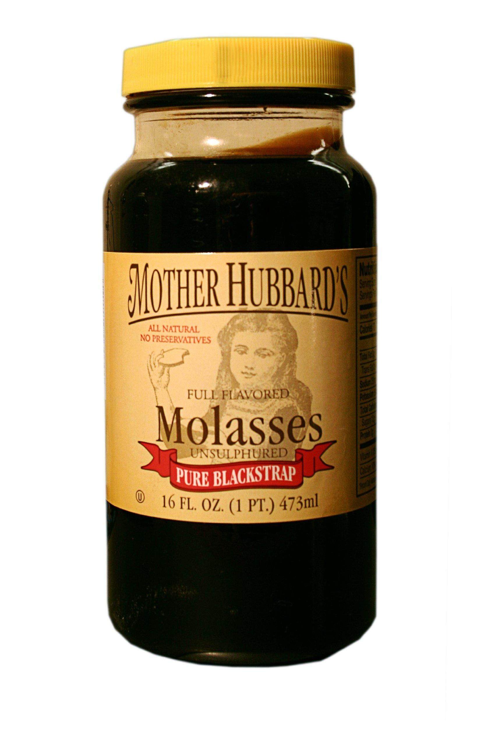 Mother Hubbard Molasses, Blackstrap, 16-Ounce Bottles (Pack of 6)