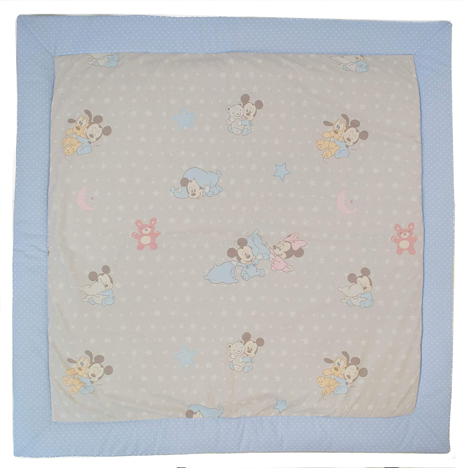 Baby Mickey&Minnie Light bluee 100x100 cm Baby Mats for Floor. Baby Mickey & Minnie Model  Pink (120x120cm)