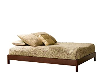 murray platform bed with wooden box frame mahogany finish twin