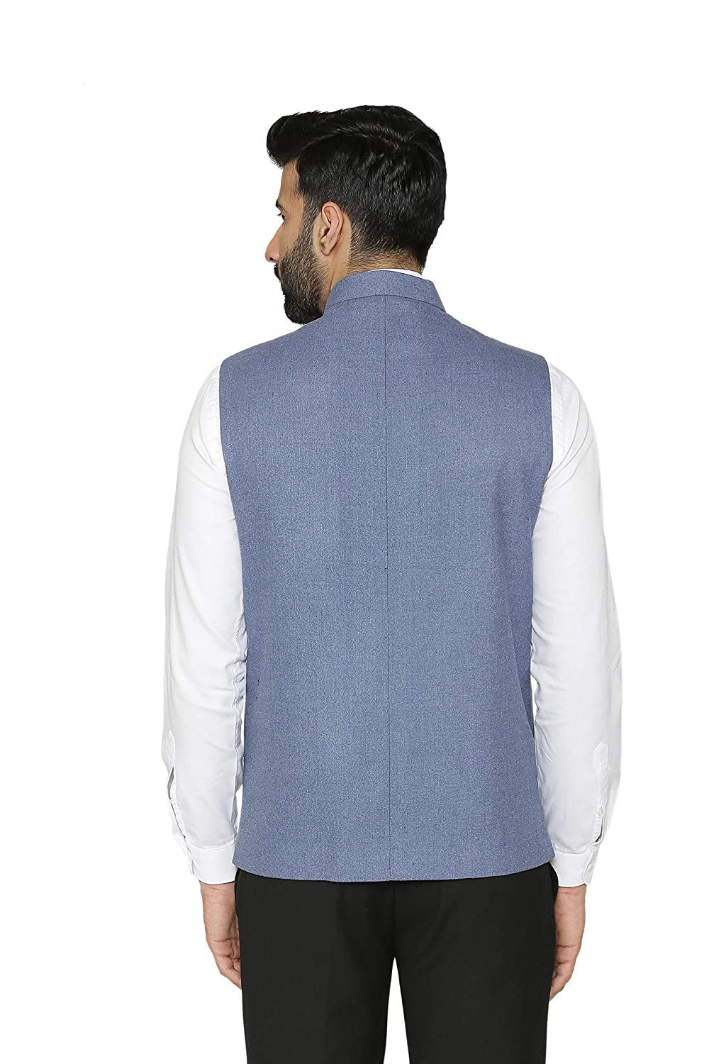 Multiple Colors Wintage Mens Tweed Wool Festive and Casual Nehru Jacket Vest Waistcoat