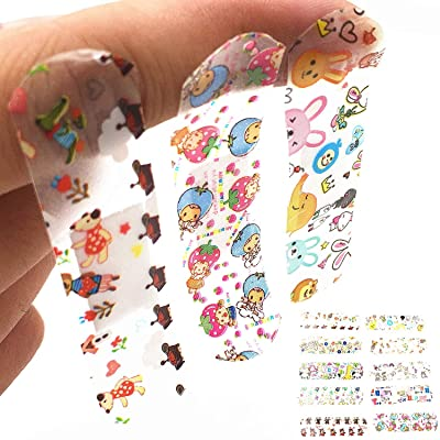 Urmydear Kids Bandaids -Toys for Children Pretend Doctor Nurse 100 Count Cute Cartoon Brilliant Bandages: Toys & Games