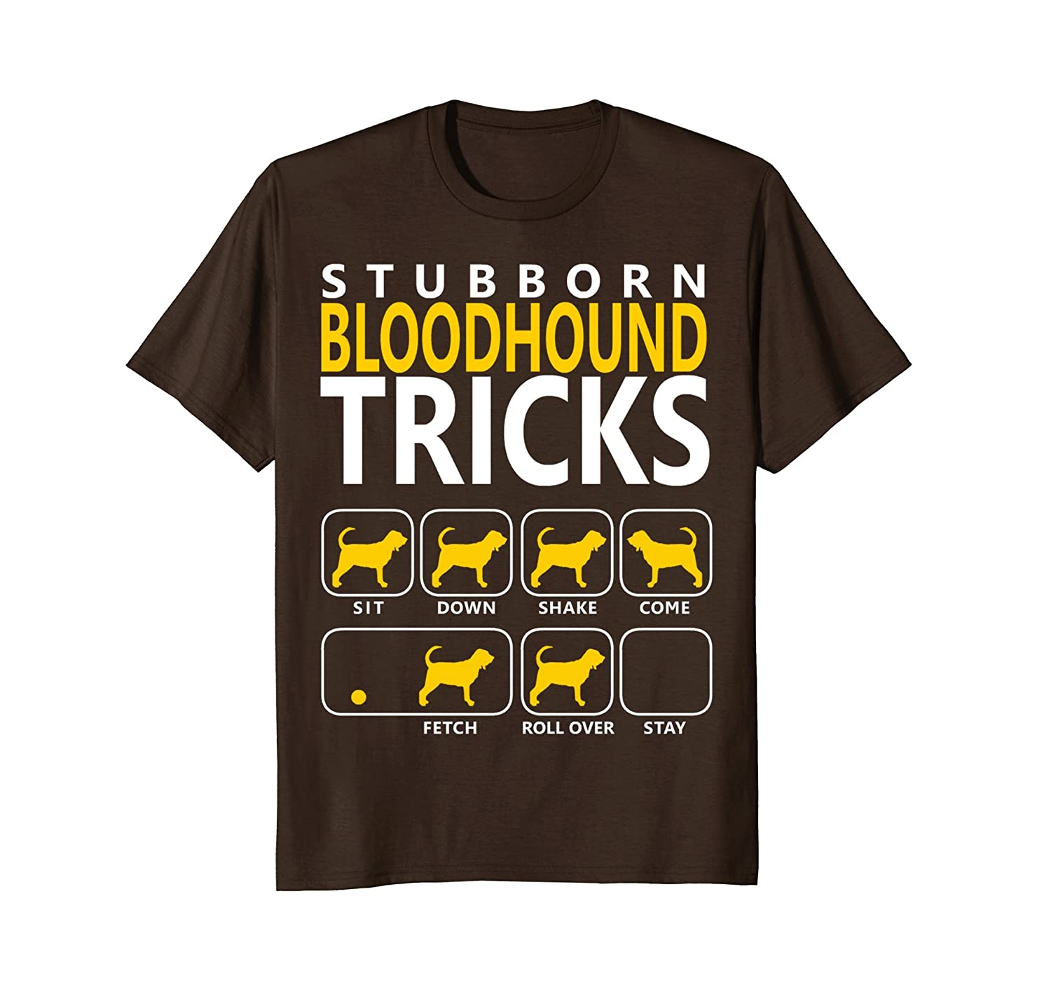 Bloodhound shirt | Stubborn Bloodhound Tricks Dog T shirt-mt