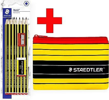 Staedtler Noris - Estuche para lápices y lápices Noris HB (incluye sacapuntas y mini borrador, 12 unidades): Amazon.es: Oficina y papelería