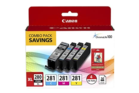 Amazon.com: Canon pgi-280/cli-281 Combo Pack, de tinta ...
