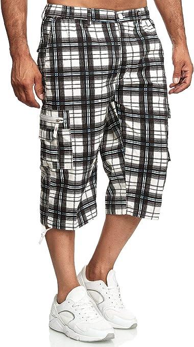 2019 Herren Bermuda Cargo Shorts Hose 3//4 Shorts Rugular Fit Kurze Fünfte Hose