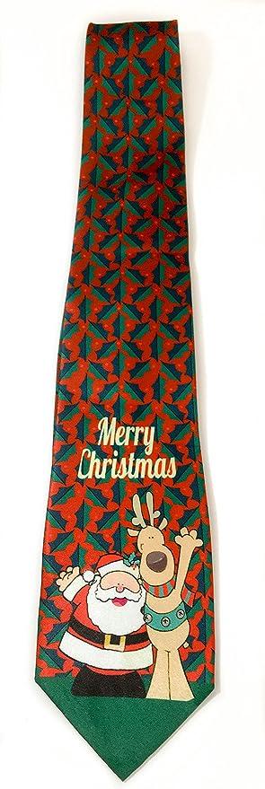 Amazon.com: Stonehouse Collection Men's Christmas Tie - Fun Merry ...
