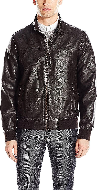 Mens Smooth Dictator Lambskin Leather Jacket Biker Jacket