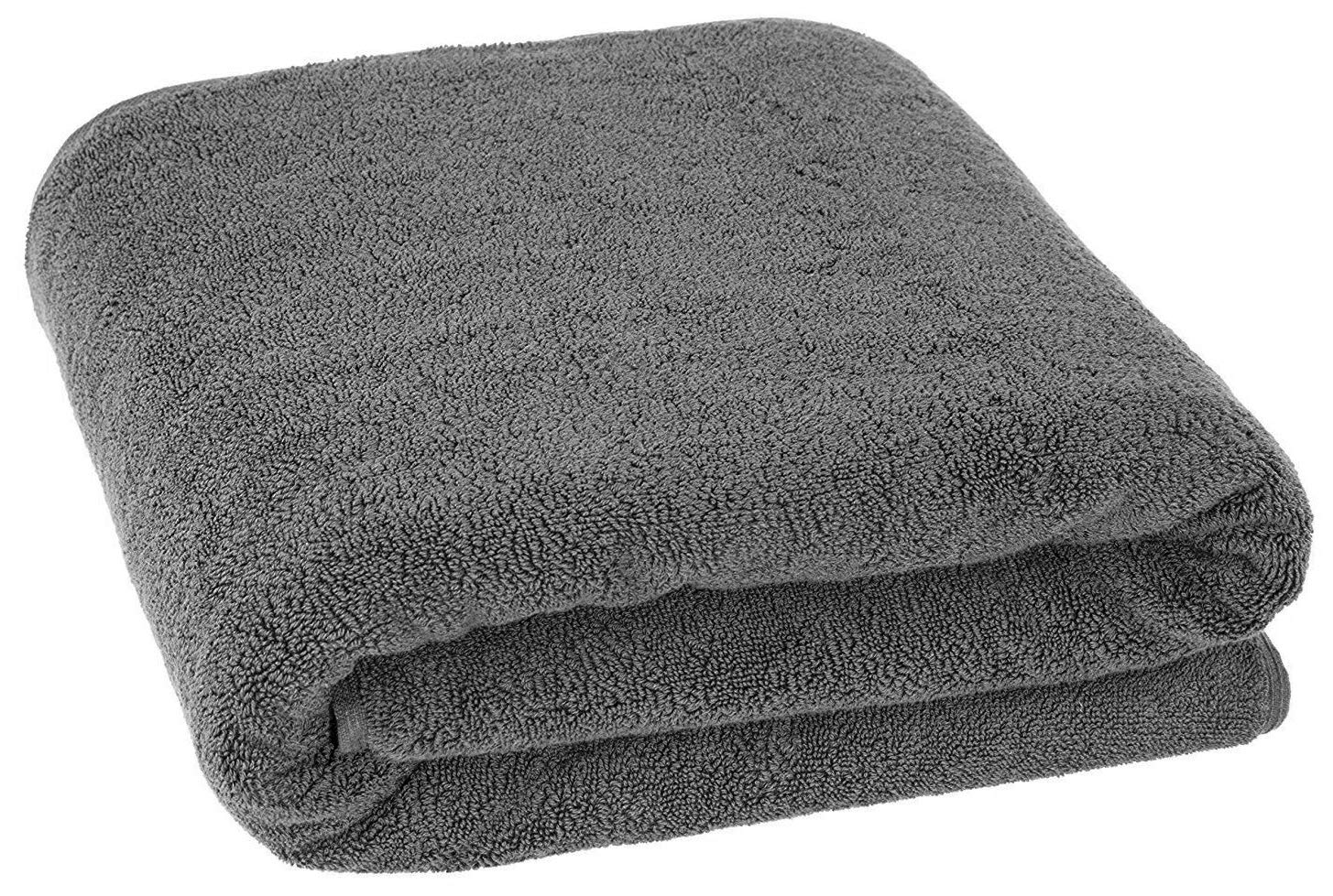 40x80 Inches Jumbo Size, Thick and Large 650 GSM Bath Sheet Cotton, Luxury Hotel & Spa Quality, Absorbent and Soft Decorative Kitchen and Bathroom Turkish Towels, Grey