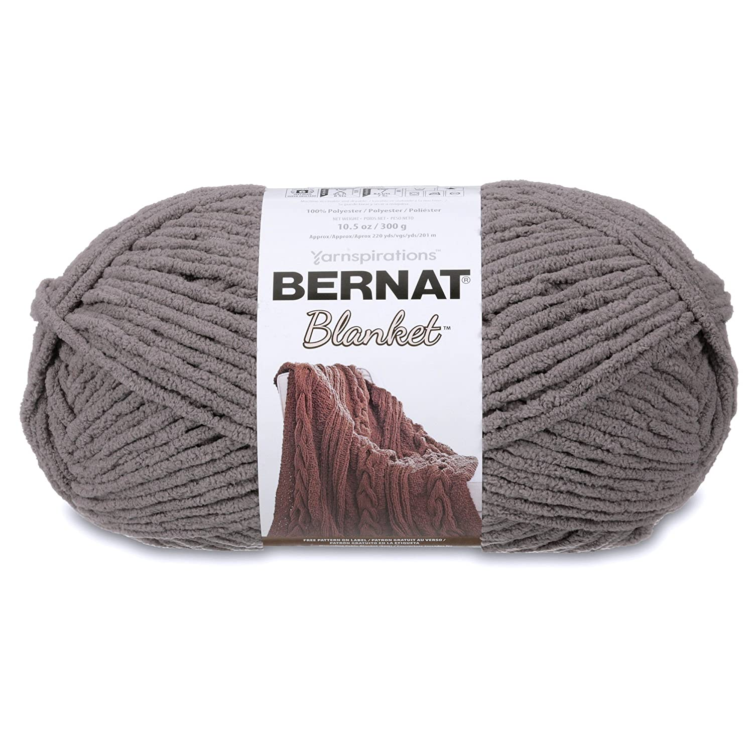Bernat Blanket Yarn, Dark Grey