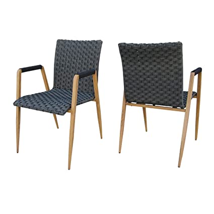 Fine Amazon Com Christopher Knight Home Lala Outdoor Grey Caraccident5 Cool Chair Designs And Ideas Caraccident5Info