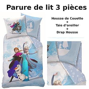 REINE DES NEIGES   Parure de lit (3pcs)   Housse de Couette