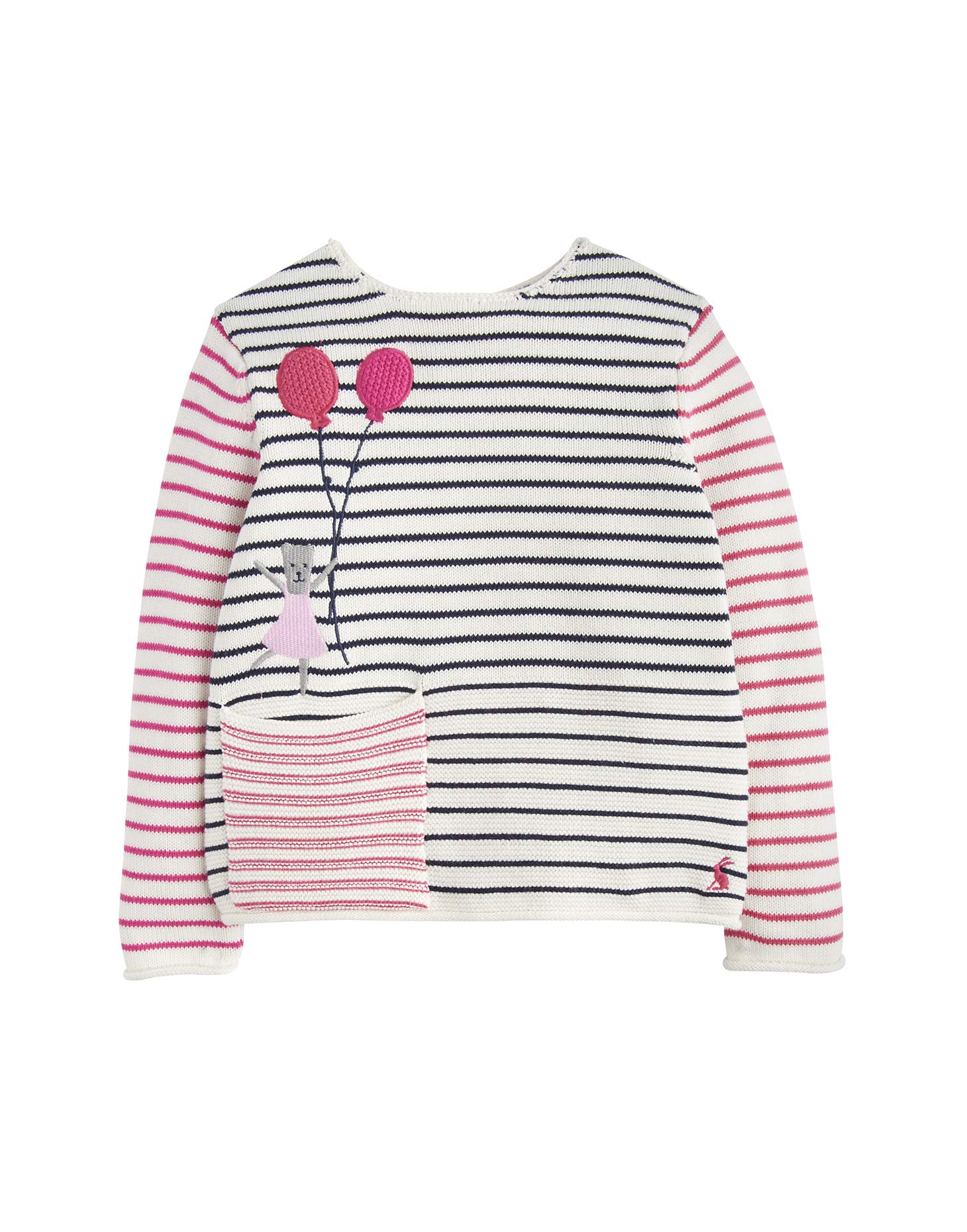 Joules Intarsia Jumper - Stripe Balloon Bear - 5 Years - 110 cm by Joules
