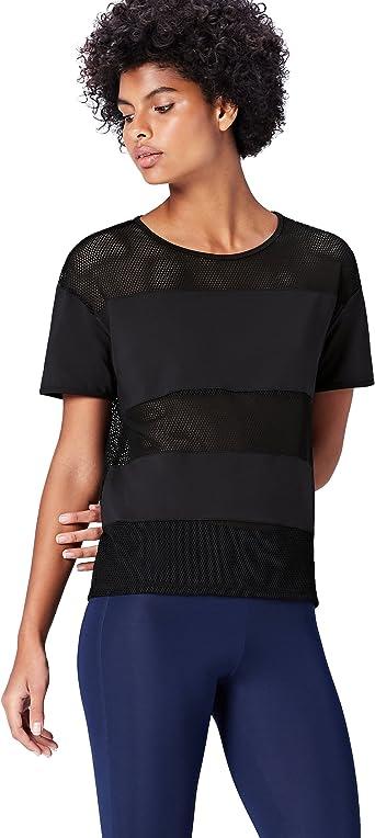 Activewear Camiseta de Rejilla para Mujer: Amazon.es: Ropa y accesorios