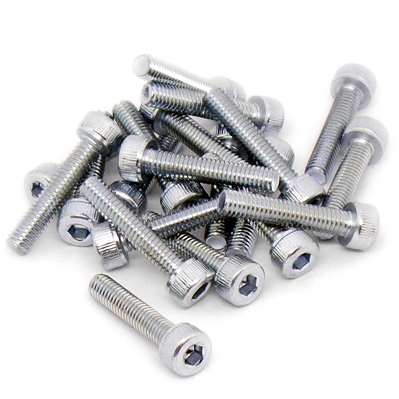 M4 (4mm x 40mm) Hex Socket Head Cap Screw Bolts - Steel (Pack of 20) Singularity Supplies Ltd