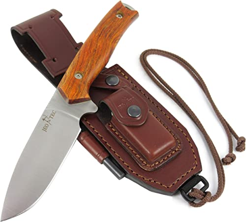 JEO-TEC N 21 Bushcraft Survival Hunting Knife – BOHLER N690C Stainless Steel, Multi-positioned Sheath – Handmade