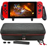 Satisfye – New SwitchGrip Elite Bundle, Accessories Compatible with Nintendo Switch - The Bundle includes: Switch Grip, Elite Case and a Low Profile USB A-C Cable. BONUS: 2 Thumbsticks+1 JoyCon Rail