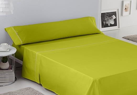 ES-TELA - Juego de sábanas LISOS BIÉS color Pistacho (3 piezas ...