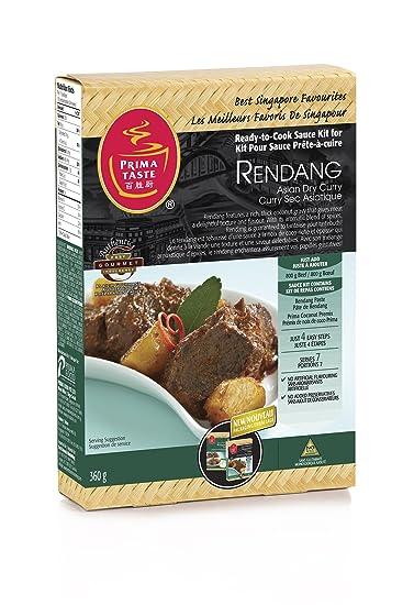 Prima Taste - Kit Salsa Listo para Cocinar por Rendang asiática en seco curry 360g