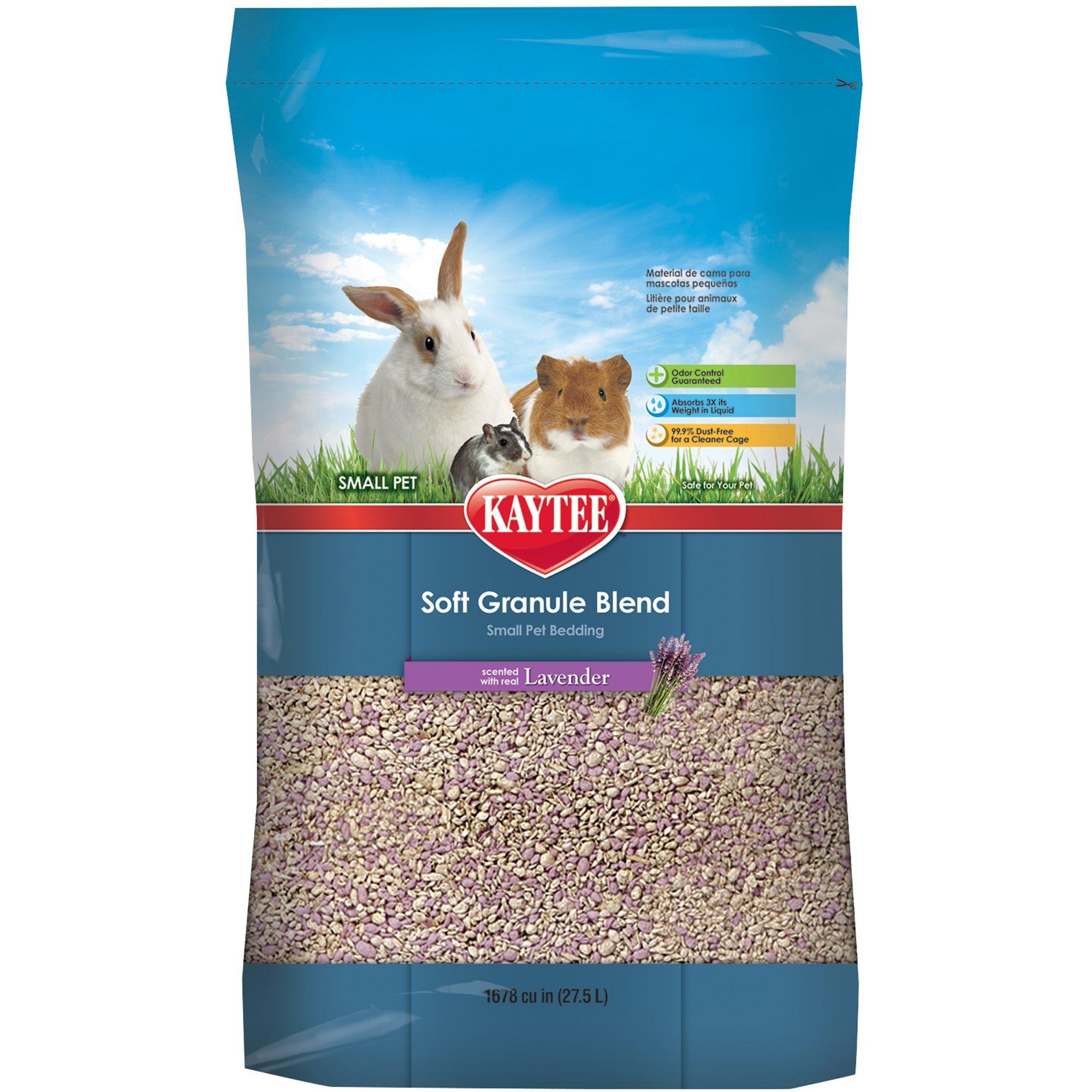 Kaytee Soft Granule Blend Lavender Bedding for Pet Cages, 27.5 Liter
