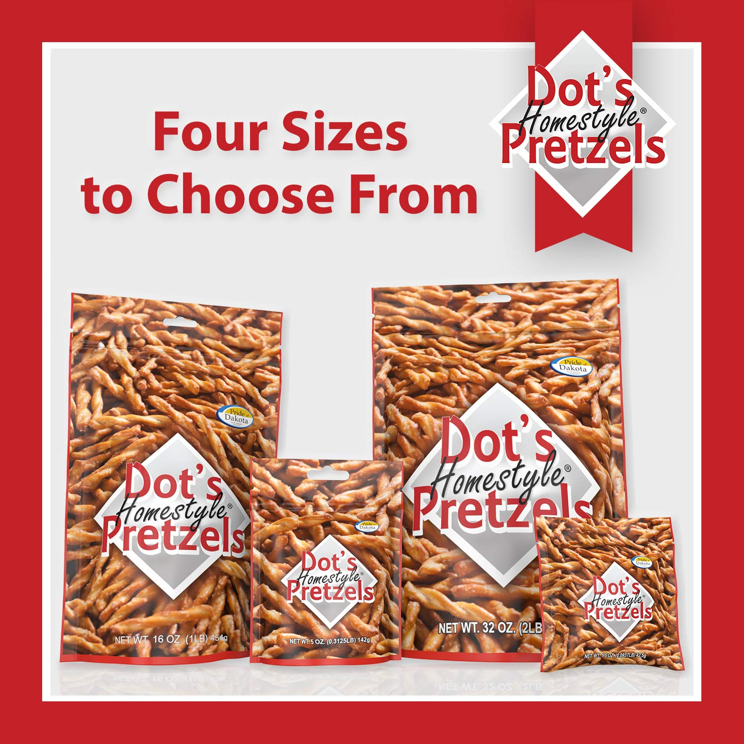 Dot's Homestyle Pretzels 5 oz. Bags (5 Pack) Snack Sized Seasoned Pretzel Snack Sticks by Dot's Homestyle Pretzels (Image #2)