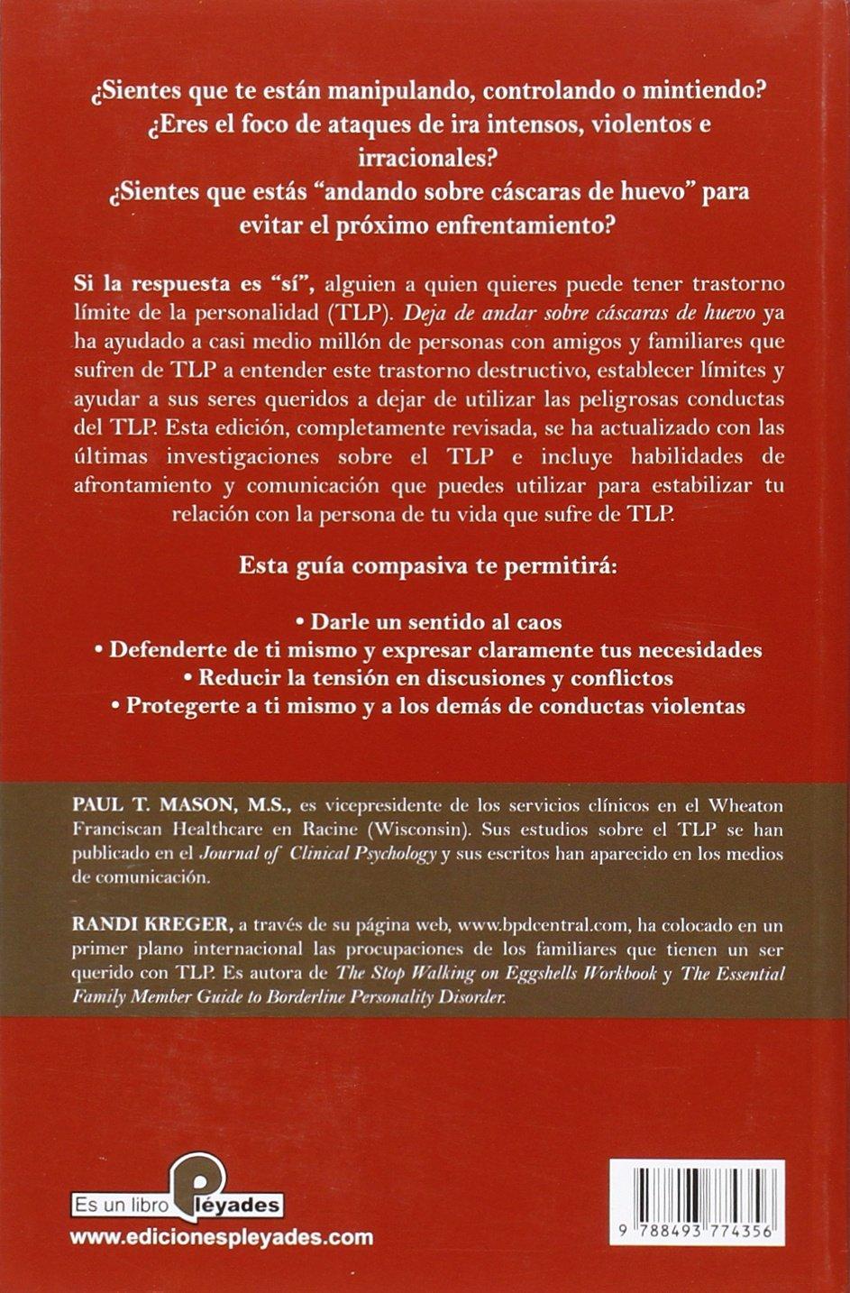 Workbooks borderline personality disorder workbook : DEJA DE ANDAR SOBRE CASCARAS DE HUEVO N/ER: Randi Kreger Paul T ...
