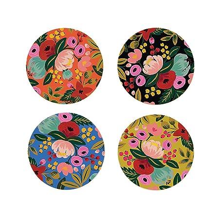 floral coaster set of 4
