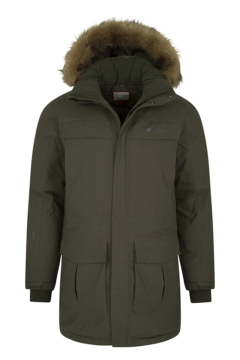 Mountain Warehouse Antarctic Extreme Down Mens Jacket Ideal Outer in Cold Weather Quick Drying /& Breathable Winter Coat Waterproof Rain Coat Adjustable Waist