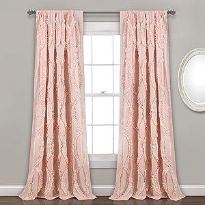 Lush Decor, Blush Avon Window Curtain Panel, 84