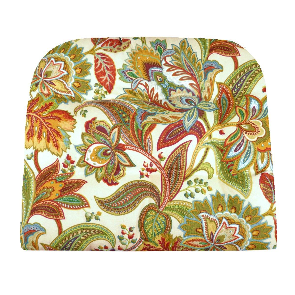 Patio Chair Cushion - Valbella Fiesta Multi - Indoor / Outdoor: Mildew Resistant, Fade Resistant - Latex Foam Fill, Reversible (Adirondack, Wicker)