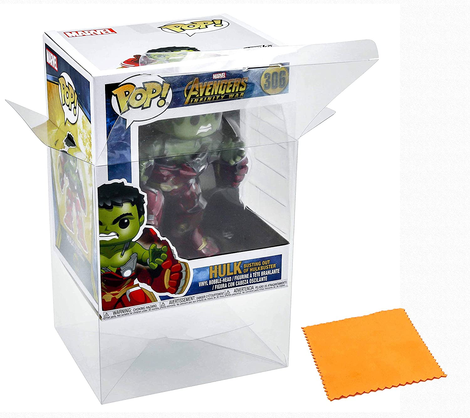 ATV Store Display Box Case / Protector For Hulk Busting out of Hulkbuster #306 AIW (2018) Funko Pop Vinyl (Figure Not Included): Amazon.es: Juguetes y ...
