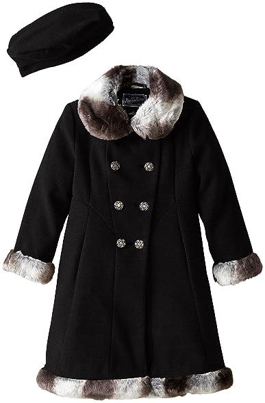 Amazon.com: Rothschild Little Girls' Dressy Coat with Faux Fur ...