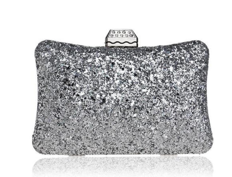 e8e687127024 Women Clutch Bag Purse Evening Handbag Glitter Sequin Shoulder Bag ...