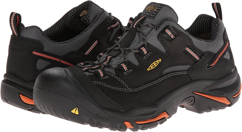 [キーン] メンズハイキングアウトドアシューズ・靴 Braddock Low Black/Bossa Nova 15 (33.cm) D - Medium [並行輸入品]