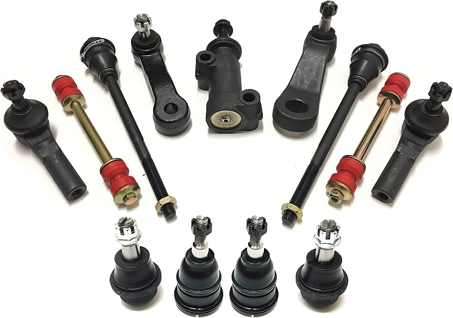 4WD Front Steering Kit Tie Rod End//Pitman//Ball Joints For Truck/'s Chevy//GMC