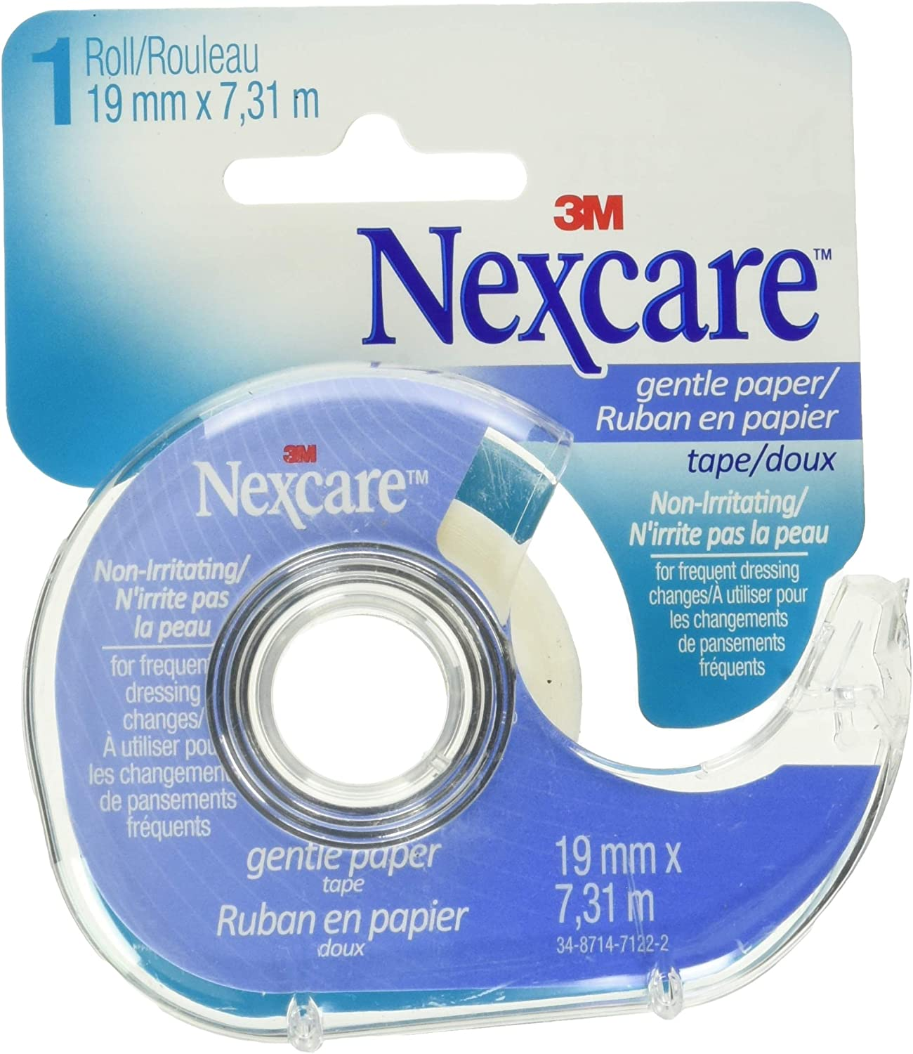 Nexcare Gentle Paper Tape With Dispenser, Tears Easily: Health & Personal Care