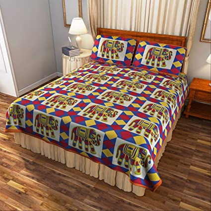 Cinch Store Fine Cotton Jaipuri Print Bedsheets With Pillow Covers (Green)