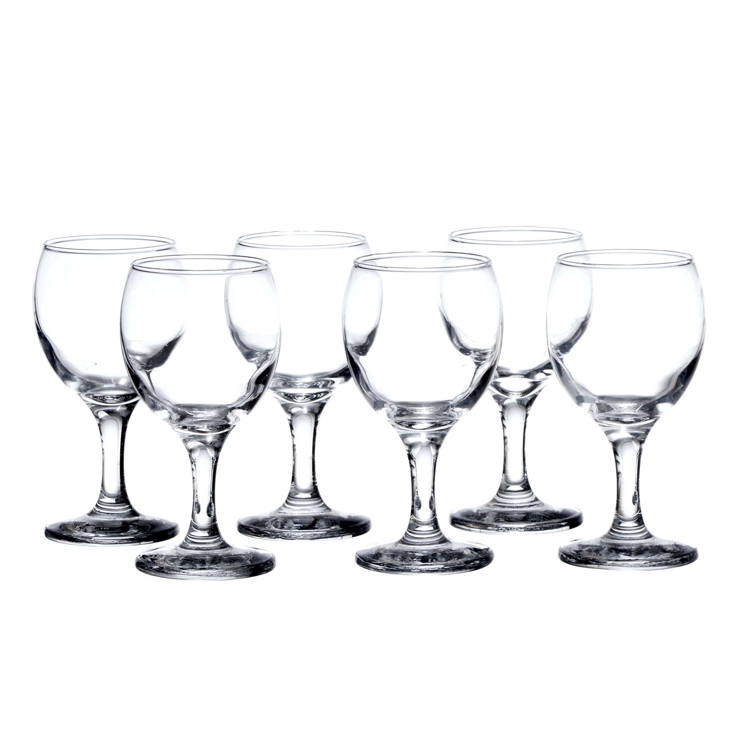 BISTRO 12-piece Wine Glasses Set (in 3 size), White, Red and Liquor Wine, Restaurant&Bar Quality, Durable Tempered Glass, Heavy Base, t.m. Pasabache (7 1/2 oz) by Pasabache (Image #2)