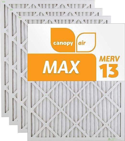 Air Filter Box of 4 16 x 30 x 1 Canopy 16 x 30 x 1 MERV  13