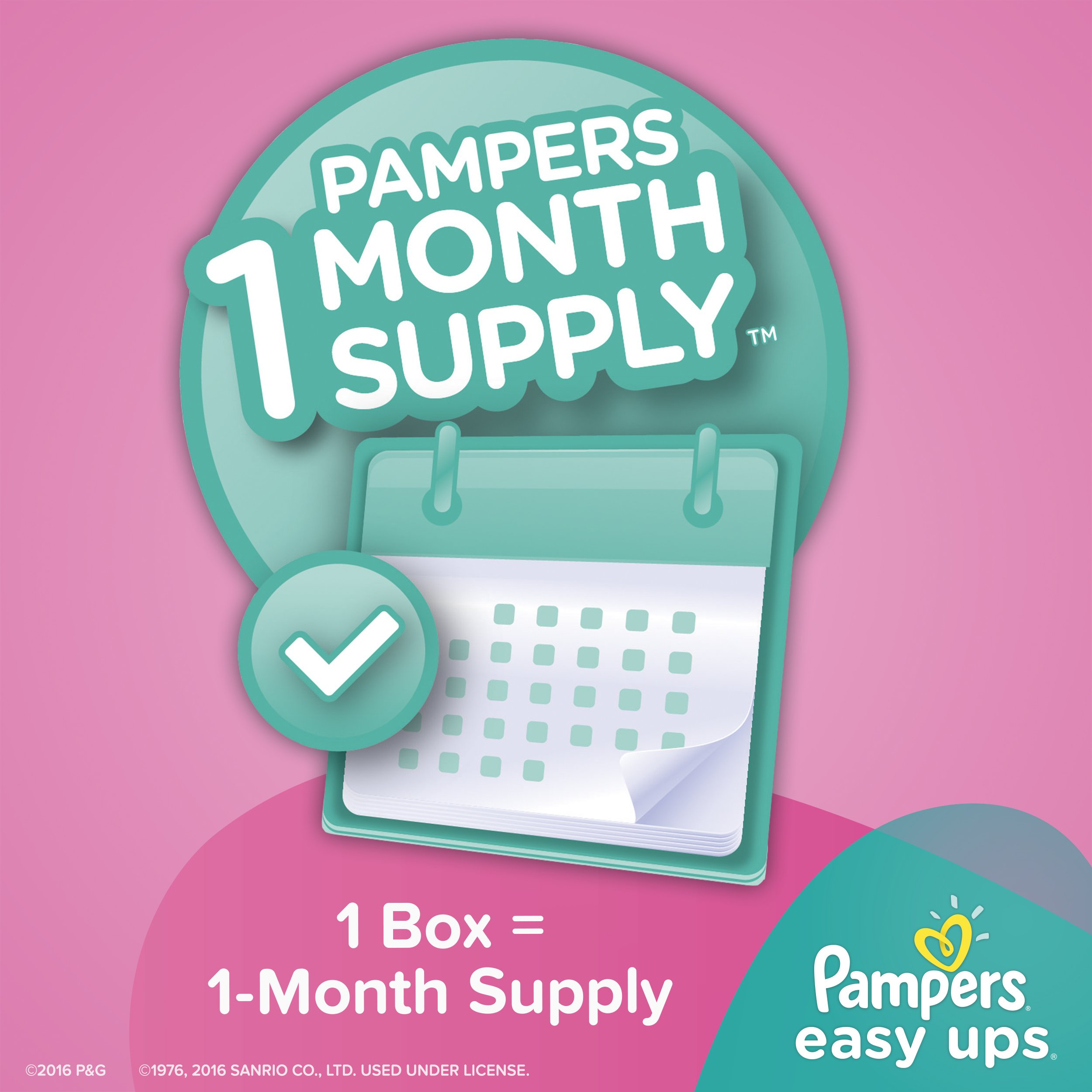 Pampers Easy Ups Training Pants Pull On Disposable Diapers for Girls Size 5 (3T-4T), 148 Count, ONE MONTH SUPPLY by Pampers (Image #3)