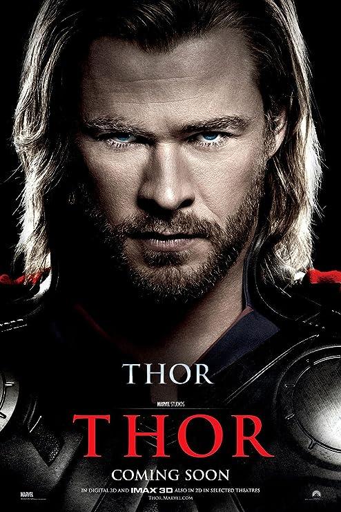 CHOOSE YOUR SIZE! Thor Movie Poster Marvel Avengers Chris Hemsworth FREE P+P