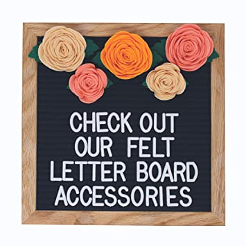 Regular, Pink Felt Letter Board Accessories Accessory Kit Only Letter Board Flower /& Succulent Decorations Perfect for Photo Props and Decor Works with All Changeable Message and Letterboards!