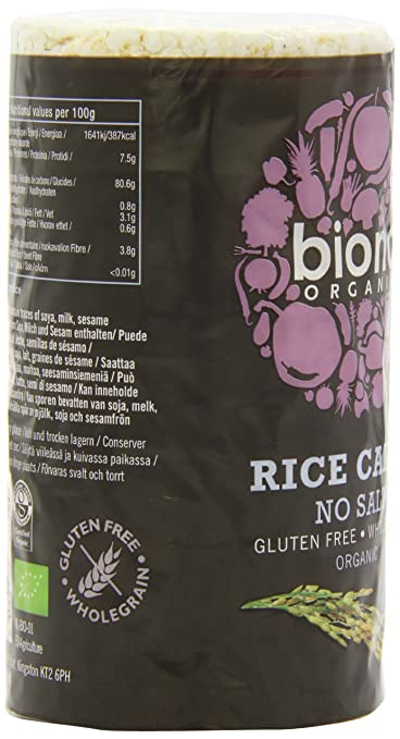 Amazon.com : Biona Organic Unsalted Rice Cakes 100 g (Pack of 12) : Grocery & Gourmet Food