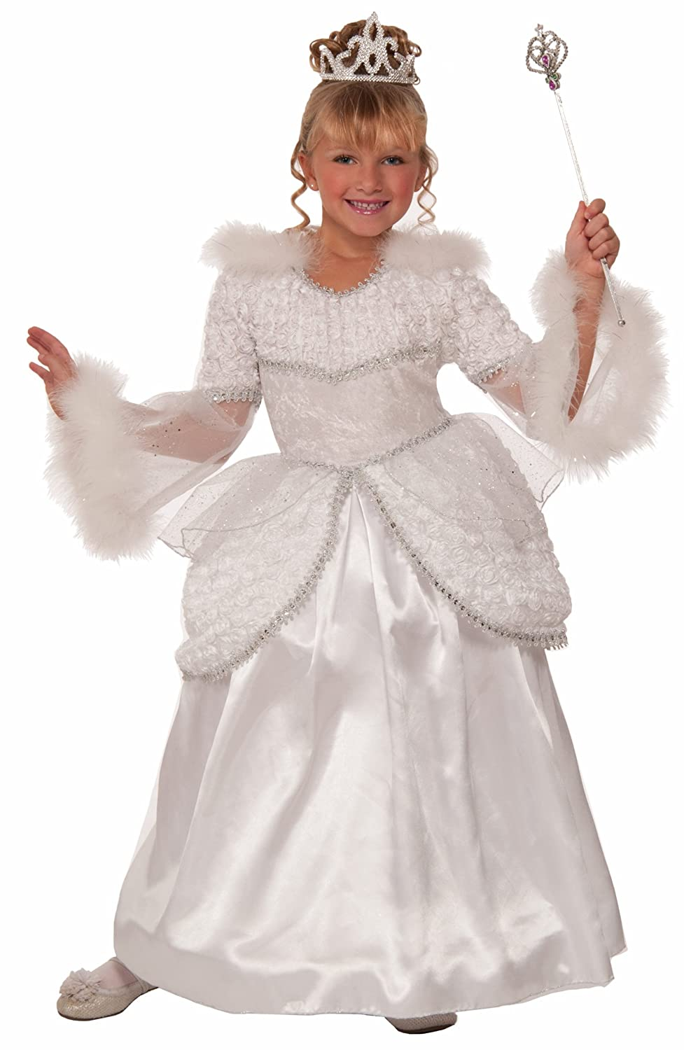 Forum Novelties Designer Collection Deluxe Snow Queen Costume Dress, Child Medium