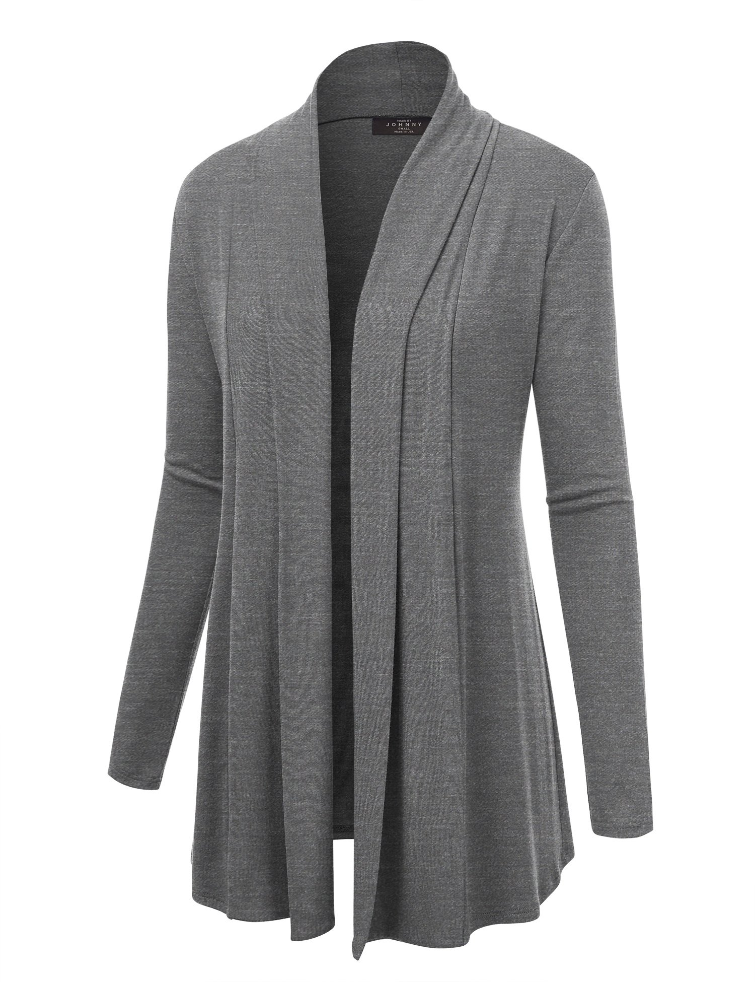 Lock and Love WSK1301 Womens Open Draped Knit Shawl Cardigan M Heather_Dark_Grey by Lock and Love (Image #1)