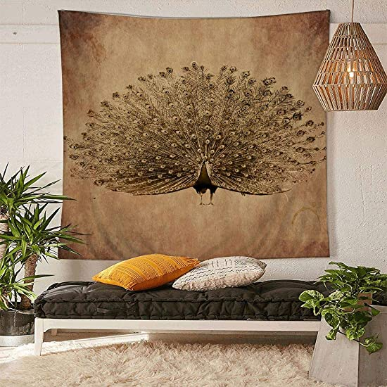 YISUMEI Tapestry Home Decorations Art Wall Hanging Hippie Tapestries 60 x 80 Vintage Peacock