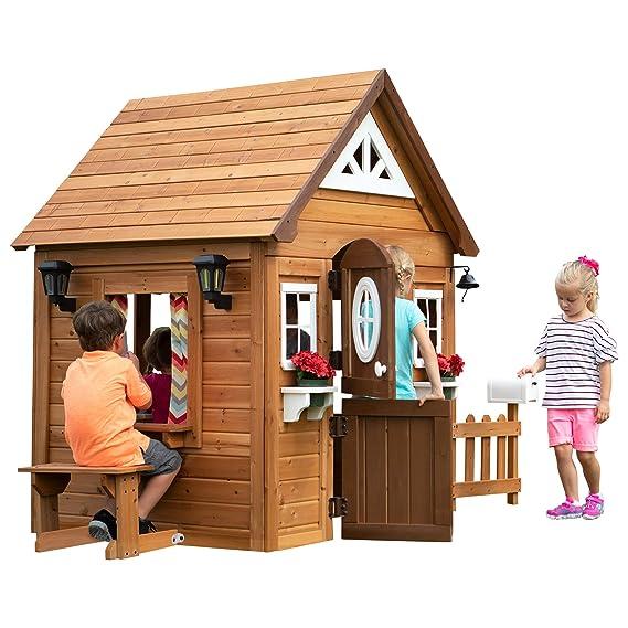 Backyard Discovery Aspen All Cedar Outdoor Wooden Playhouse by Backyard Discovery